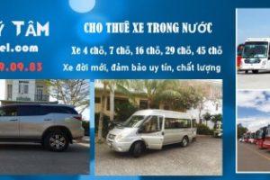 Bảng giá cho thuê xe ô tô