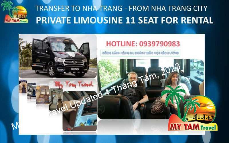 Car Rental in Nha Trang City 12 seat limousine VIP