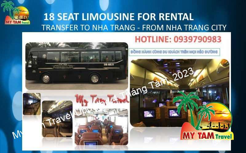 Car Rental in Nha Trang City 18 seat limousine VIP