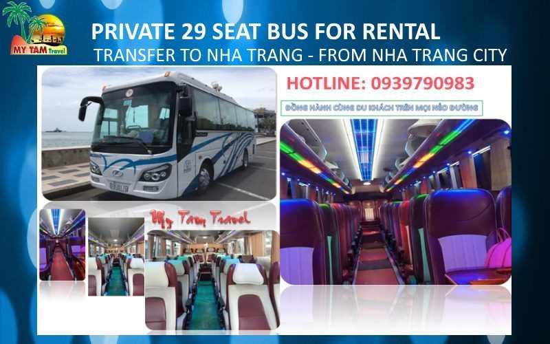 Car Rental in Nha Trang City 29 seat bus